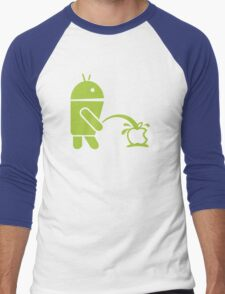 Android peeing apple Men's Baseball ¾ T-Shirt