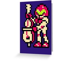Metroid Musician from Tetris Greeting Card