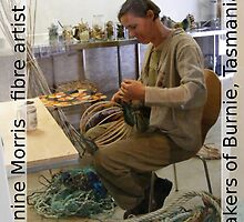 Janine Morris, fibre artist at work. by Esther's Art and Photography