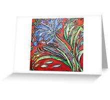 Agapanthas Growing Greeting Card