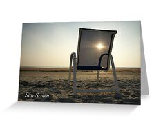 Sun Screen Greeting Card