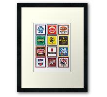 Beer Brands Vintage Framed Print