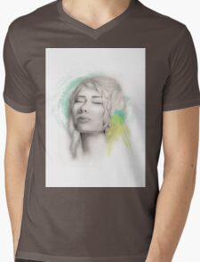 Tranquil Girl  Mens V-Neck T-Shirt