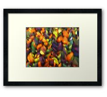 Knitted Framed Print