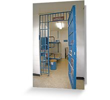 Female Cell Block, Cornwall Jail Greeting Card