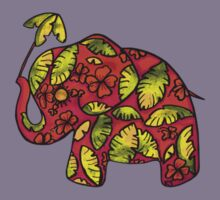 Umbrellaphant Raspberry Splice Kids Tee