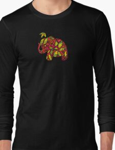 Umbrellaphant Raspberry Splice Long Sleeve T-Shirt