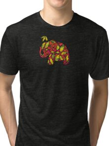 Umbrellaphant Raspberry Splice Tri-blend T-Shirt
