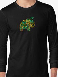 Umbrellaphant Lime Splice Long Sleeve T-Shirt