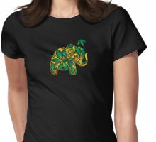 Umbrellaphant Lime Splice Womens Fitted T-Shirt
