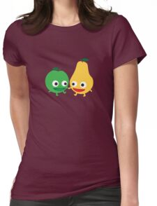 Apples and pears Womens Fitted T-Shirt