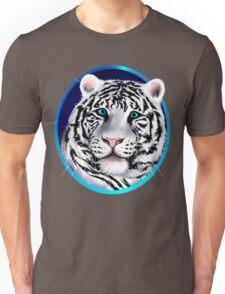 Framed White Tiger Face Unisex T-Shirt