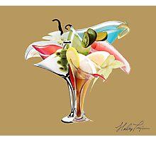 Cocktail Bouquet - Brown Photographic Print