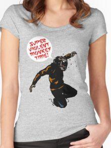 SUPERVIOLENTMONKEYTIME! Women's Fitted Scoop T-Shirt