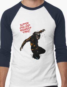 SUPERVIOLENTMONKEYTIME! Men's Baseball ¾ T-Shirt