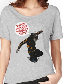 SUPERVIOLENTMONKEYTIME! Women's Relaxed Fit T-Shirt