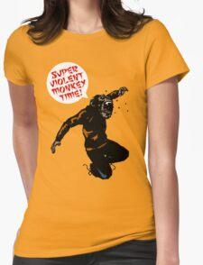SUPERVIOLENTMONKEYTIME! Womens Fitted T-Shirt