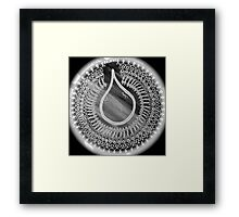 a blk/white moon message Framed Print