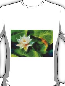Water Lily and Leaves T-Shirt