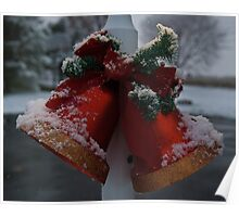 Christmas Bells and Snow Poster