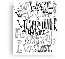 Avicii wake me up Canvas Print