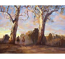 Riders in the Red Gums - after Hans Heysen Photographic Print