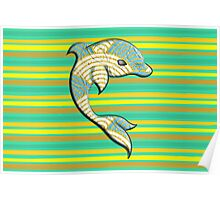 Quilt Dolphin Poster