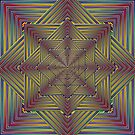 Phatpuppy Retro Texture Abstract Squares1 by Hugh Fathers