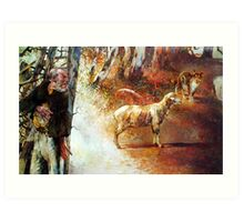 To Jump a Jumbuck - Waltzing Matilda Series Art Print