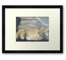 Last light in the Blue Mountains by Peter the Red. Framed Print