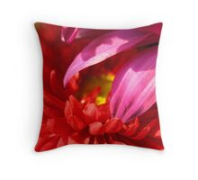 Colliding Colours of Flora Throw Pillow