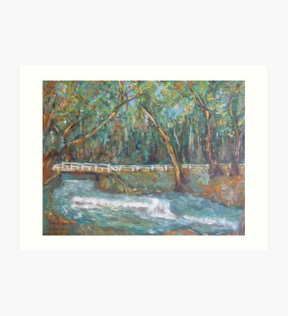 A Bridge over untroubled waters by Peter the Red Art Print