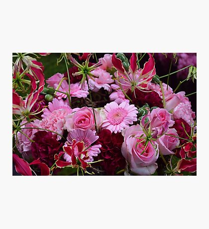 Pink bouquet Photographic Print