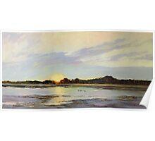 Teal Sunrise Swamp, Mingbool South Australia  Poster