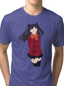 Rin Tohsaka (Fate/stay night Minimalistic Print) Tri-blend T-Shirt