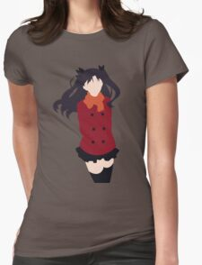 Rin Tohsaka (Fate/stay night Minimalistic Print) Womens Fitted T-Shirt