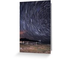 Star Trails Over Lake Clifton  Greeting Card