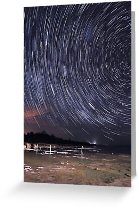 Star Trails Over Lake Clifton  by EOS20