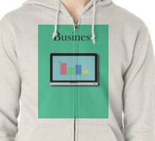Business laptop Zipped Hoodie