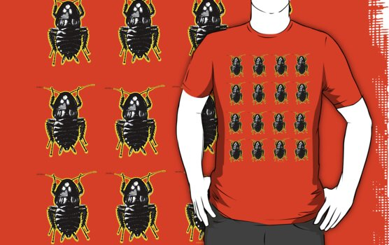 Blatella Orientalis, The Oriental Cockroach Tee by Pete Janes