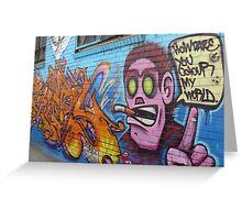 Angry man - Graffiti Greeting Card