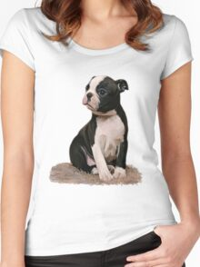 Boston Baby T Women's Fitted Scoop T-Shirt