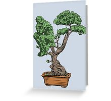 Bonsai Thinking Greeting Card