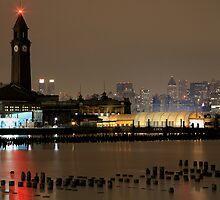 N J Transit Clocktower Hoboken N J by pmarella