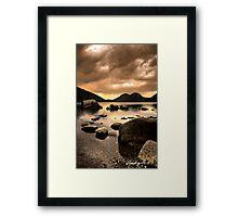 Zen Stones Framed Print
