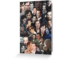 Benedict Cumberbatch Collage Greeting Card