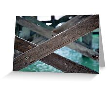 Jetty see through #2 - Monkey Mia Western Australia Greeting Card