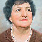 """John Allsopp's mother """"Doreen"""" Oil on canvas portrait. by allspp"""