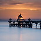 Clevedon Pier Sunset by Carolyn Eaton