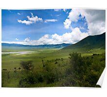 an inspiring Tanzania landscape Poster